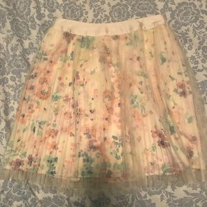 LC Pretty in Pleats pink Skirt NWT